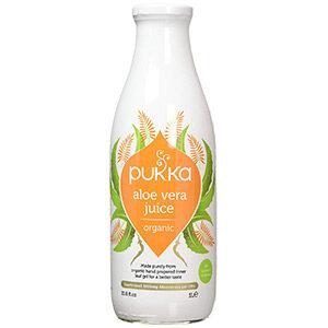 Pukka Herbs Aloe Vera Juice, Organic Drink From Inner Leaf Gel, 1l Bottle
