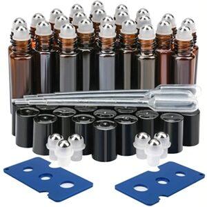 Glass Roller Bottles 24 Pack 10 Ml